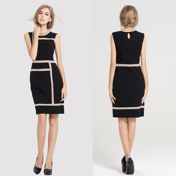 Fashion womens Slimming Design Office Work Dress Prom Pencil dresses Midi bodycon Dress plus size Dress K08# S-XXXX Одежда