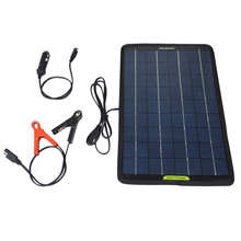 10W Multi-Purpose Portable Solar Panel Battery Charger for Camping Vehicles 12V Battery