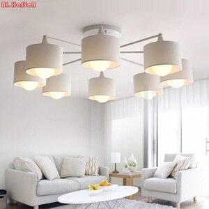 Image 1 - Plafonnier au design créatif moderne simpliste, éclairage dintérieur, luminaire dintérieur, en blanc, en noir, en or et en argent E27, luminaire décoratif de plafond, idéal pour un salon, LED