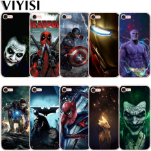 VIYISI Phone Case For Apple iPhone X IPhone 7 case 8 6 6S Plus Cover 5 5S SE Etui Deadpool Iron Man Back Coque Capinha Joker