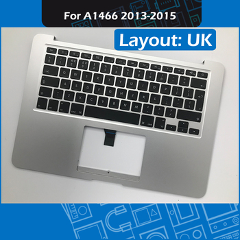 """2013-2015 Year A1466 Topcase with Keyboard and Backlight UK version for Macbook Air 13"""" A1466 Palmrest Replacement EMC 2632 2925"""