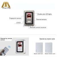 отпечатков пальцев и технологии RFID-карты система контроля доступа 1000 пользователей металл сканер отпечатков пальцев биометрический доступа управление
