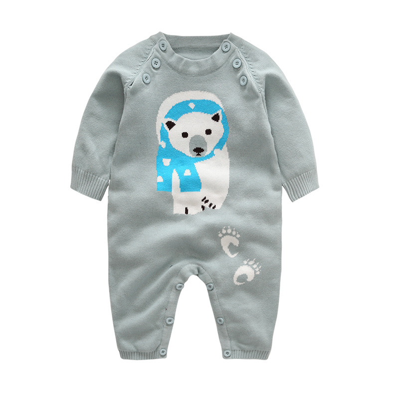 Newborn Rompers for Baby Boys Clothes Bear Cartoon Cotton Winter Rompers Infant Jumpsuits Baby Costumes Children's clothing boy winter newborn bear jumpsuit patchwork long sleeve baby rompers clothes baby boys jumpsuits infant girls clothing overall