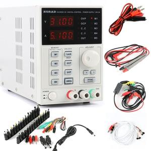 Image 1 - Программируемый источник питания постоянного тока KA3005D, 30 в, 5 А, точный настраиваемый цифровой лабораторный источник питания, 4 шт. мА + переменный ток, стандартный комплект