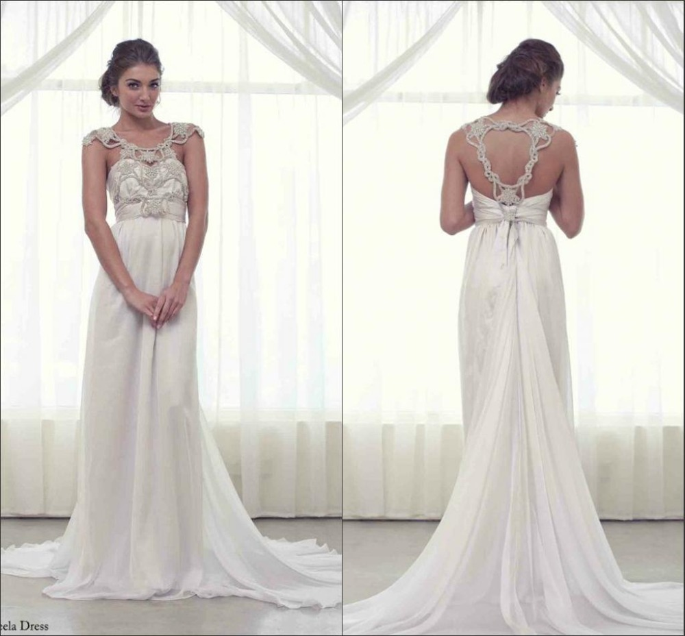 2014 New Fashionable Sheath Floor Length Sweetheart Lace Backless Wedding Gowns Bridal Dress