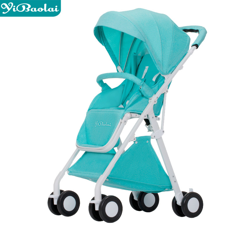 Fashion folding high landscape baby stroller ultra-light portable baby cart lying newborn carriage Aluminum Alloy child Pram folding baby stroller lightweight baby prams for newborns high landscape portable baby carriage sitting lying 2 in 1