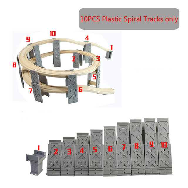 10pcs Spiral Tracks
