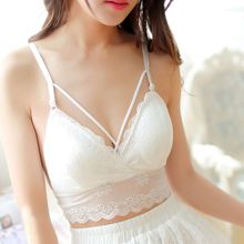 New Arrival Sexy Women Lace Bralette Crop Tops Back Bandage Cross Cami Unpadded Tank Crop White Bralet Bra Bustier criss cross back crop cami top