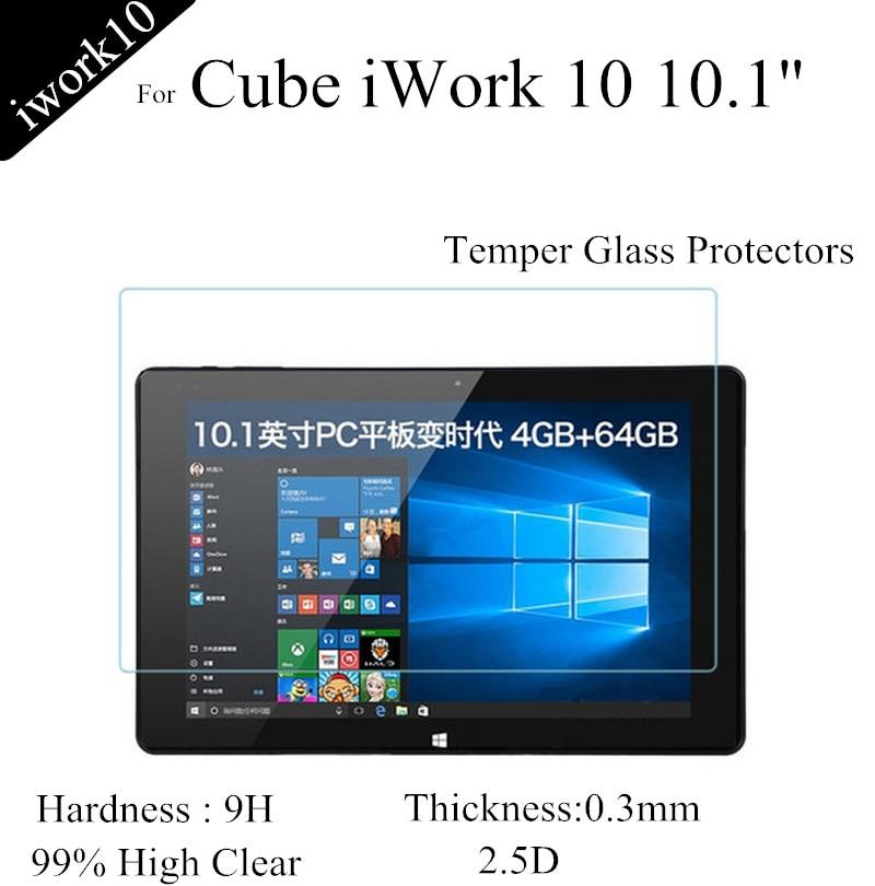 Cube iwork10 üçün şüşə ekran qoruyucuları üçün 10 işlənmiş şüşə 10 qoruyucu film üçün 0.3mm partlayışa qarşı