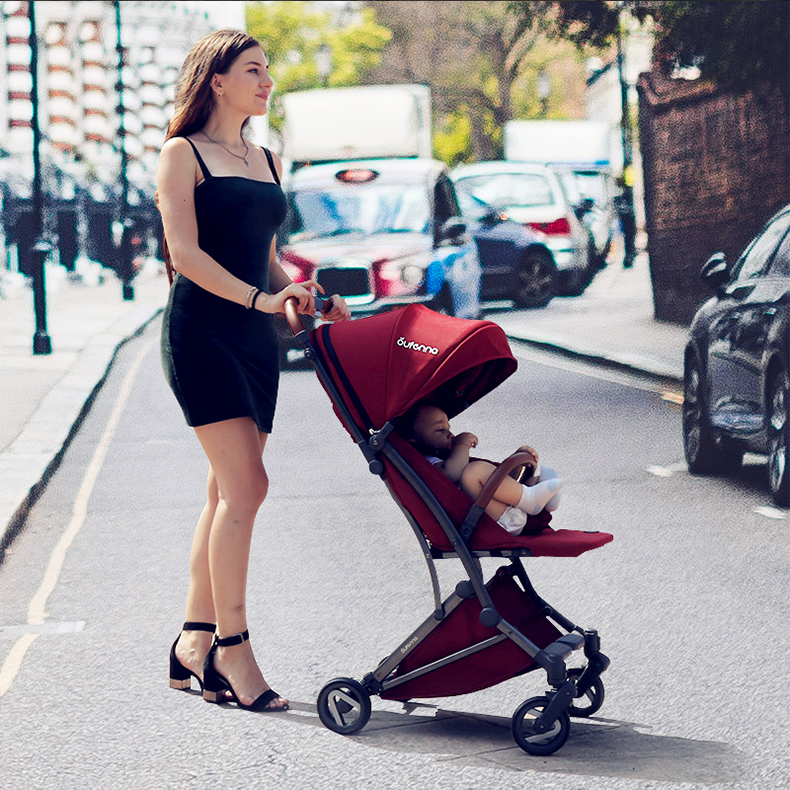 Babyfond Baby stroller EU Portable Umbrella Baby Pram Can Sit On The Foldable Ultra-light Portable Baby Trolley Baby Pram web page
