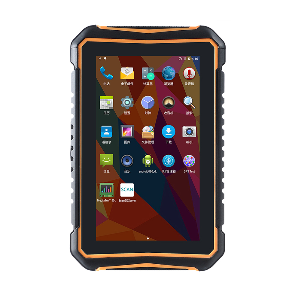 7 Inch Outdoor IP65 Industrial Rugged Tablet PC Handheld Barcode Scanner Android Tablet With NFC RFID Barcode Scanner