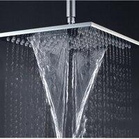 10 дюймов осадков водопад Насадки для душа Ванная комната у 1/2 воды на выходе Душ Дождь Ванная комната массаж насадкой настенный