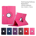 For Samsung Galaxy Note(2014 Edition) 10.1 P600 Tab Pro T520 Tablet PU Leather Case Cover Rotating +Film