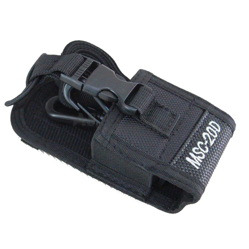 bilder für Walkie talkie bag & Gehäusehalter MSC-20D Nylon Tragetasche für kenwood baofeng uv-5r uv-5ra uv-5rb uv-5rc uv-b5 uv-b6 bf-888s xqf