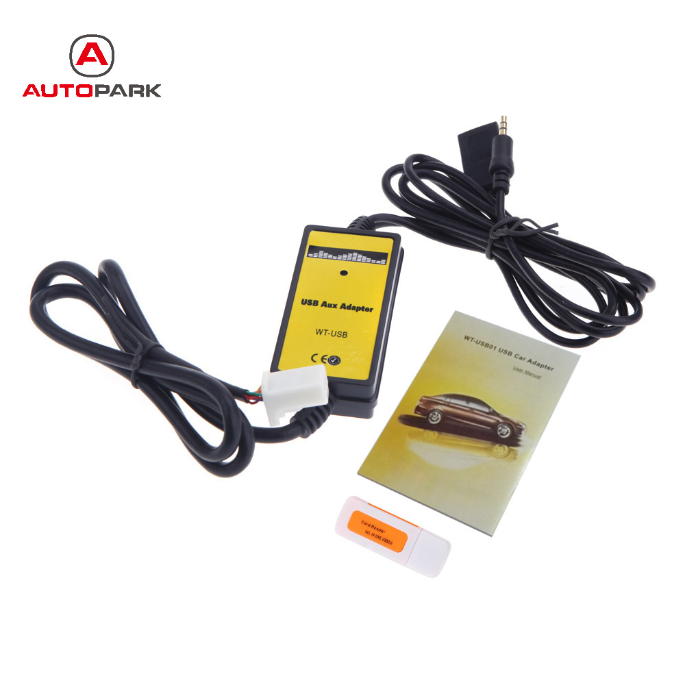 USB AUX Input MP3 Player CD Audio Media Interface Adapter