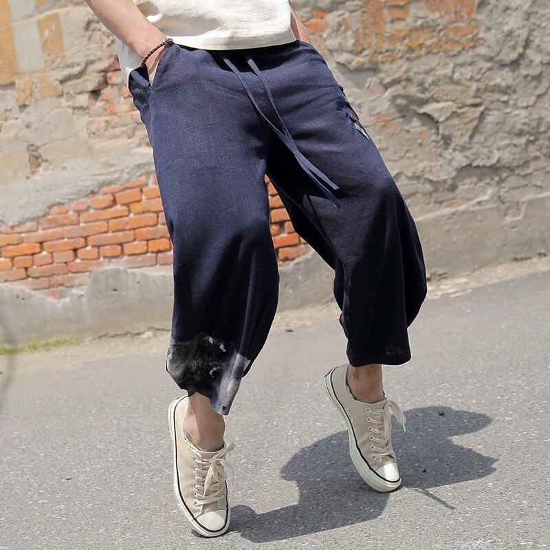 blanco Pierna De Azul Trajes Casual Nuevo Estilo Ropa Moda Harem 2017 Cloose Nacional Pantalones Ancha Sqw6x8F