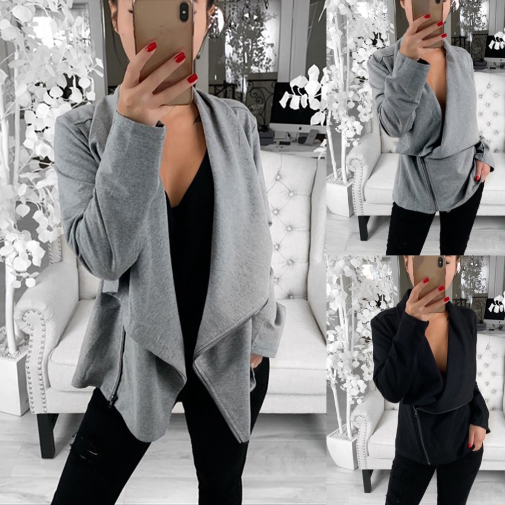 Women Jackets Long Sleeve Open Front Short Cardigan Suit Jacket Winter authum Work Office women's Coat Top dropshipping #30