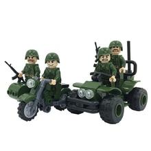 8001 Military Model Reconnaissance Detachment Assembling Building Blocks Toys