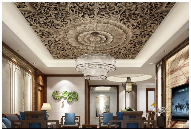 benutzerdefinierte 3d fototapete 3d decke wandmalereien tapeten klassischen chinesischen. Black Bedroom Furniture Sets. Home Design Ideas