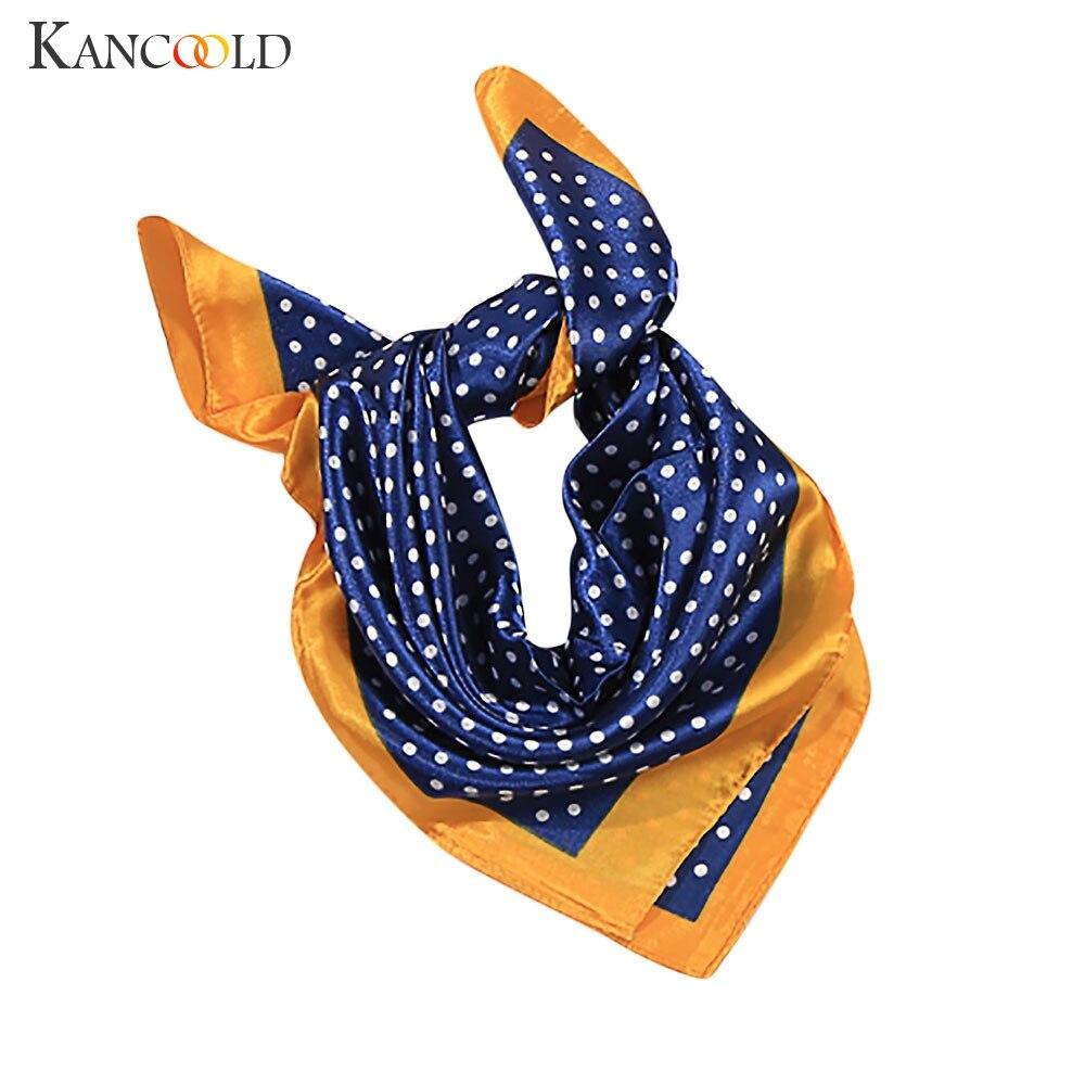 KANCOOLD Scarf Women Elegant Fashion Head Neck Hair Tie Silk Satin Scarf Shawl Wrap Kerchief High Quality Scarf Women 2018Nov21