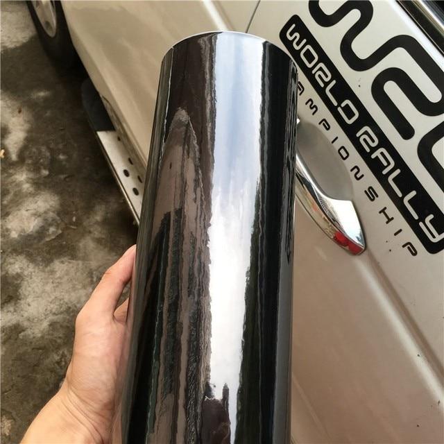 Film protecteur pour voiture noir brillant | Brillant Flexible, Chrome noir, miroir, vinyle, film de protection pour voiture, feuille daluminium, sans bulles, autocollant de véhicule, housse dordinateur, peau de téléphone