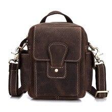 Luxus Vintage Kleine Echtem leder Tasche männer Handtasche Umhängetasche Hüfttasche Gürtel Schultertasche Hand-Made Multi funktionen