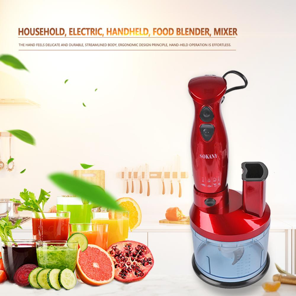 600W Household Electric Blender Handheld Food Mixer Blender Baby Food Supplement Mixer Grinder Kitchen Food Processor