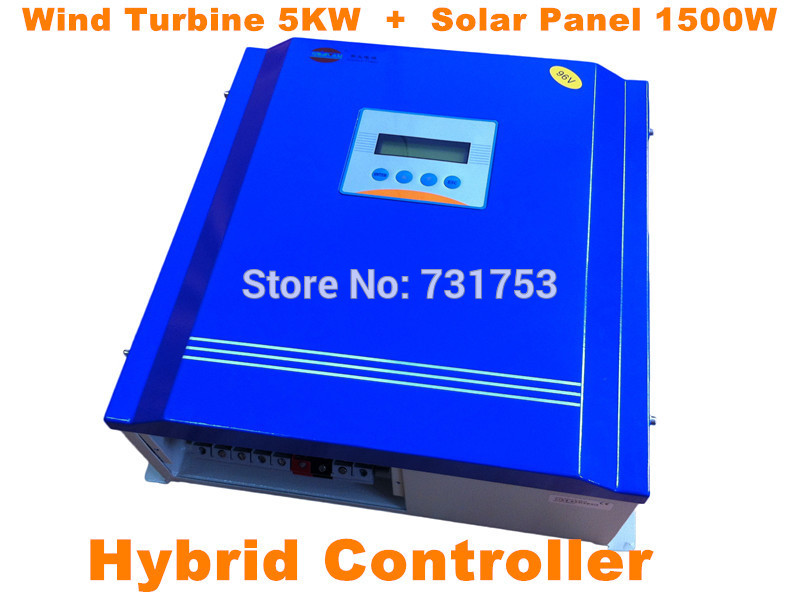 MAYLAR@ Rated Battery 48V96V Wind Turbine5KW+PV Model 1500W Hybrid Controller With Communication LCD Display For Off-grid System free shipping 600w wind grid tie inverter with lcd data for 12v 24v ac wind turbine 90 260vac no need controller and battery