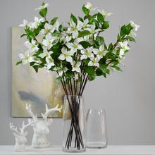 Artificial Dogwood Flowers Spray White 36 Blooms Branches for Floral Arrangement DIY Crafts Indoor Decoration