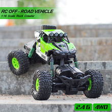 GizmoVine RC Off-road Vehicle 1/16 Remote Control Car Rechargeable Monster Truck Scale 2.4GHz Wireless RC Car Toys For Baby kids 1 14 rastar rc car remote control toys usb rechargeable built in battery door can open lit lights without retail box 71060