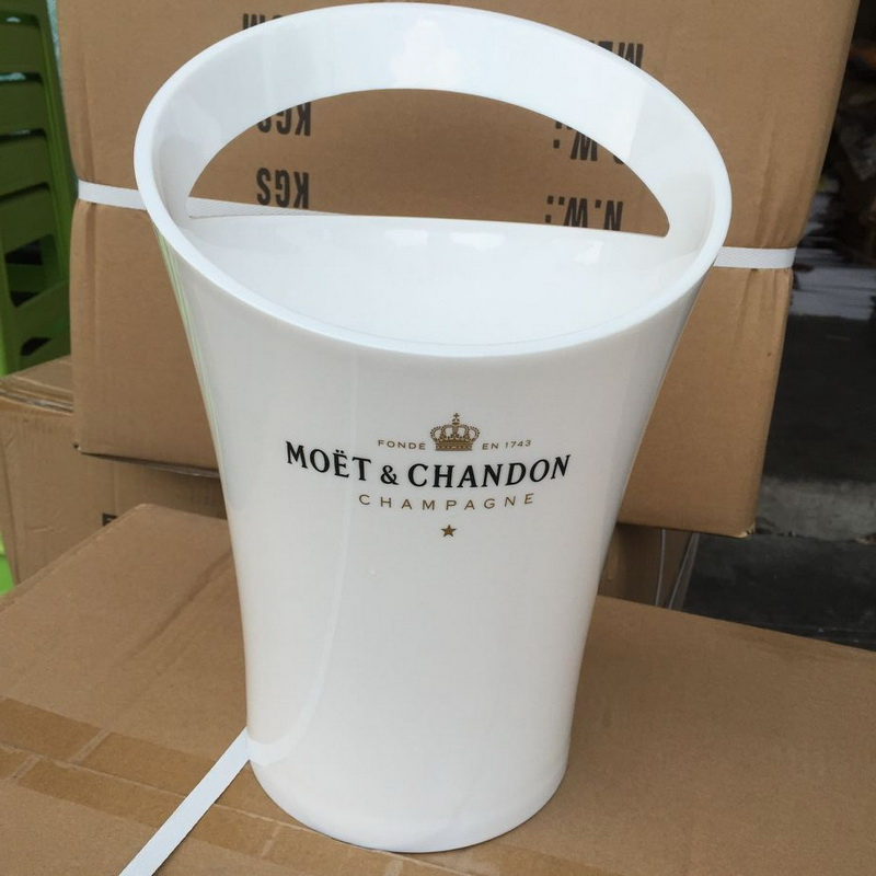 New Fashion 3L Thicken Acrylic White Ice Buckets Wine Coolers Wine Holder for Moet Chandon Red Wine Beer Party Bucket