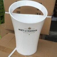 Yeni Moda 3L Kalınlaşmak Akrilik Beyaz Buz Kovaları Şarap Soğutucular şarap tutucu Moet Chandon için Kırmızı Şarap Bira Parti Kova
