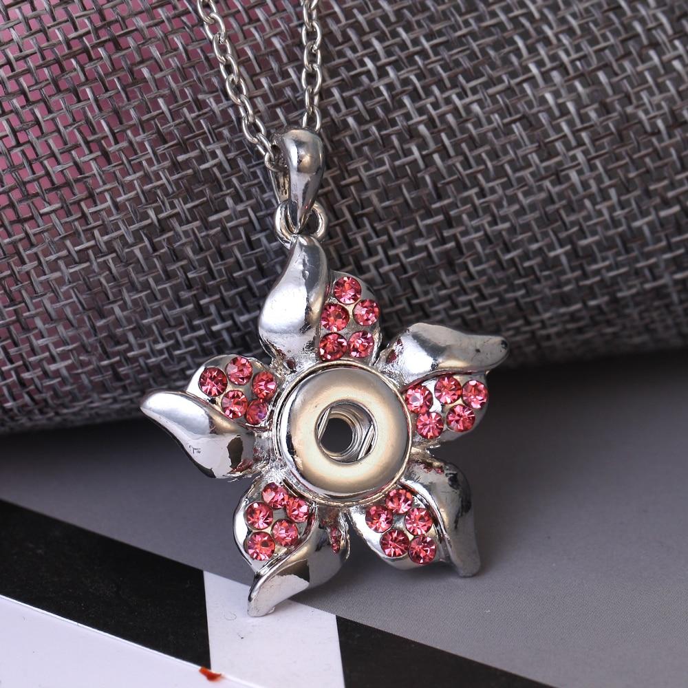 Новое ювелирное ожерелье с цветочной застежкой 12 мм, подвеска с кнопкой 12 мм, ожерелье с подвеской, цепочка для свитера, ювелирные изделия|Цепочки| | АлиЭкспресс