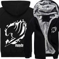 New Fairy Tail Hoodie Natsu Dragneel Cosplay Costume Casual Men Zipper Jacket Coat Sweatshirt