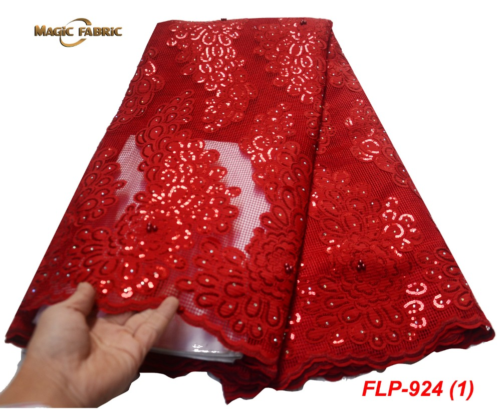 African Lace Fabric 2019 Embroidered Nigerian Laces Fabric Bridal High Quality French Tulle Lace Fabric For