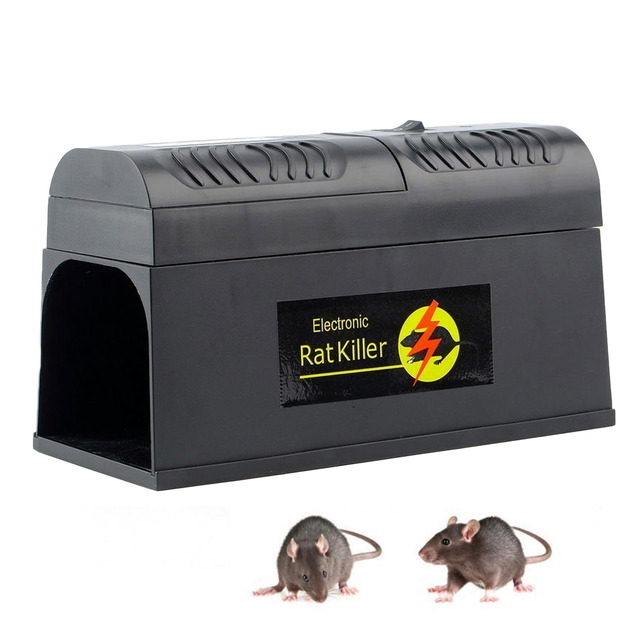Electric Shock Mousetrap Pest Control EU US UK Plug