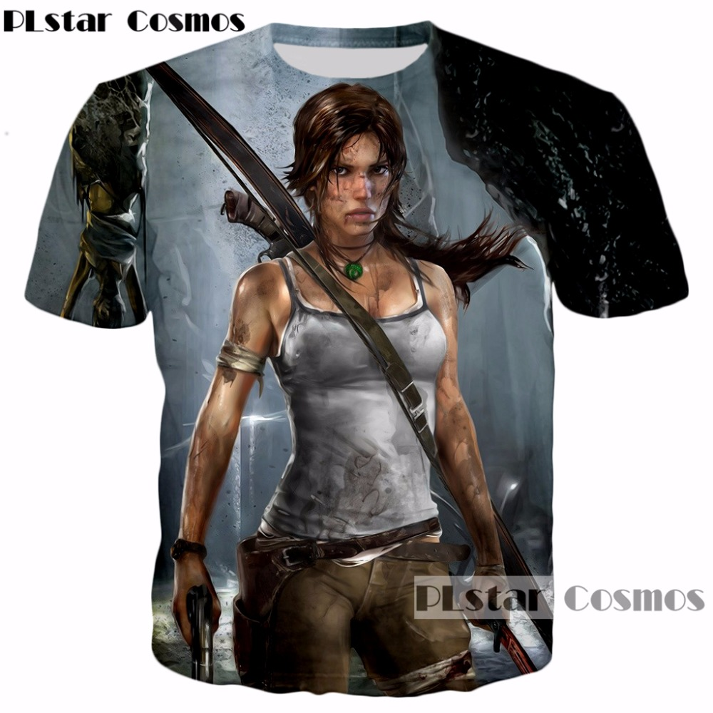 PLstar Cosmos 2018 Hipster Vintage Men/Women 3D printed t shirt Classic Game Tomb Raider Arrow Cool T-Shirt tops hip hop tshirt