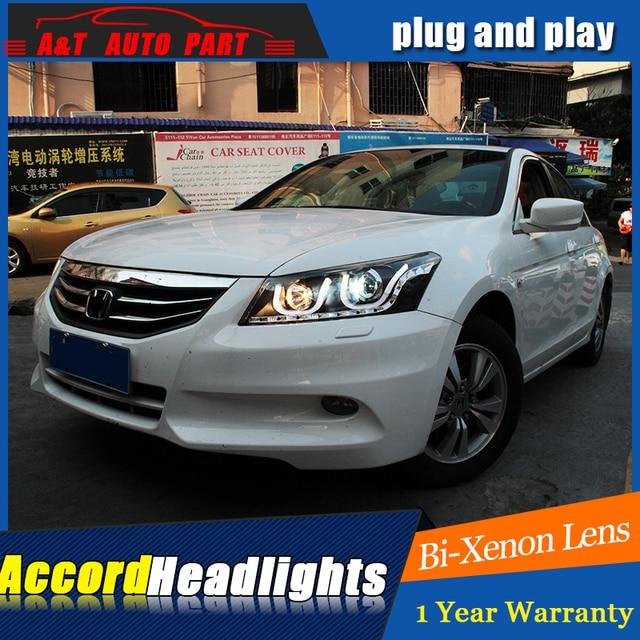 New Front Light Car Styling For Honda Accord Headlights Angel Eyes 2010 2017 Head Lamps Bi Xenon Lens H7