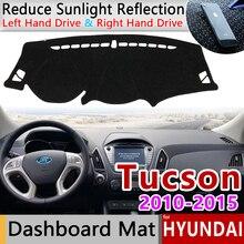 Dla Hyundai Tucson 2010 2011 2012 2013 2014 2015 LM Ix35 mata antypoślizgowa pokrywa deski rozdzielczej Pad parasolka Dashmat chroń akcesoria