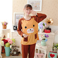 Hot sale Cute bears Pregnant woman pajamas nightwear clothing for pregnancy women Puerpera breastfeeding clothes set maternal