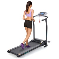 ANCHEER Mini Electric Treadmill Folding Electric Running Training Sports Fitness Treadmill for GYM Home EU UK Plug 2 Colors