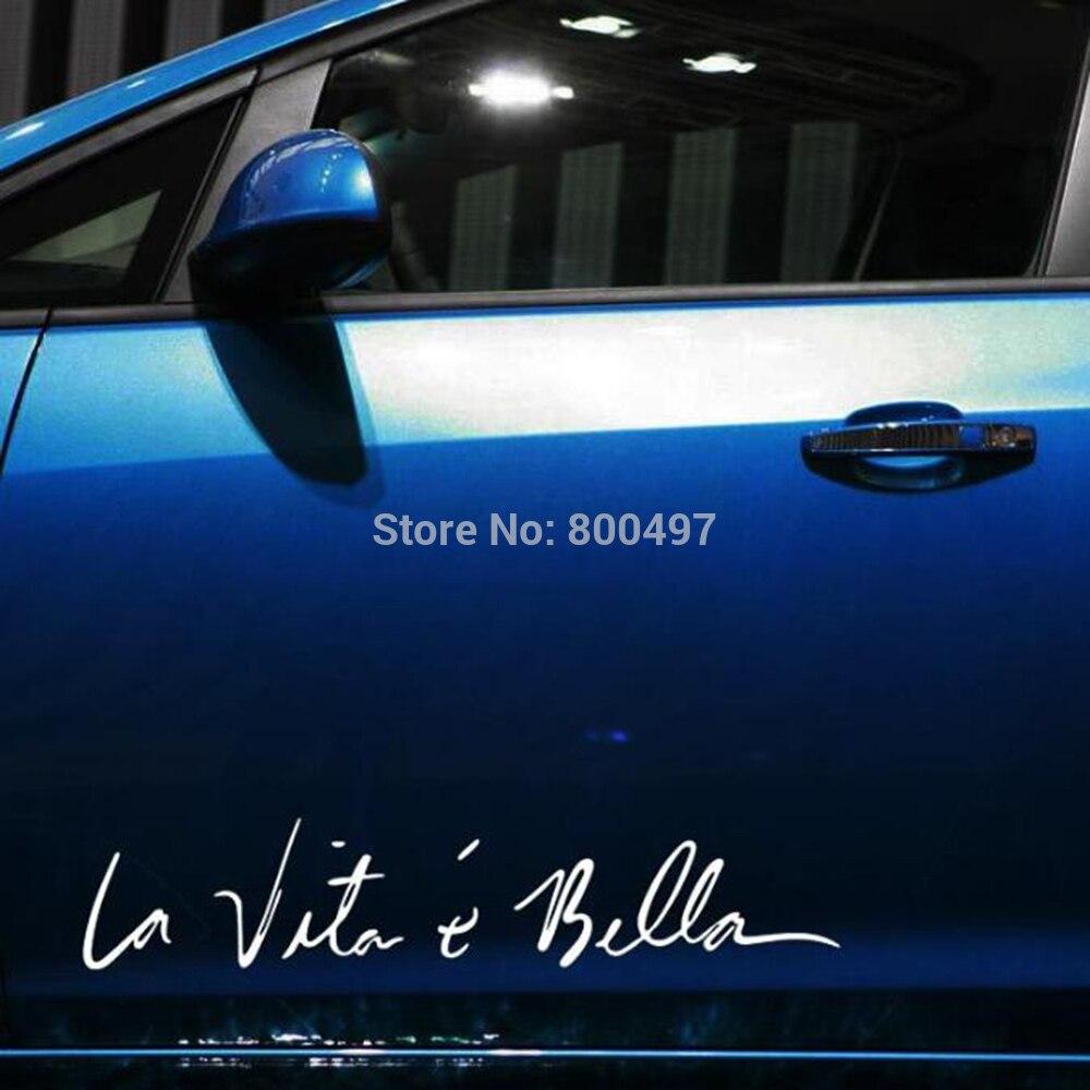 10 X Funny Sticker Life Is So Beautiful La Vie Est Si Belle Car Sticker Auto Decal Accessories For Tesla Bentley Jaguar Volvo