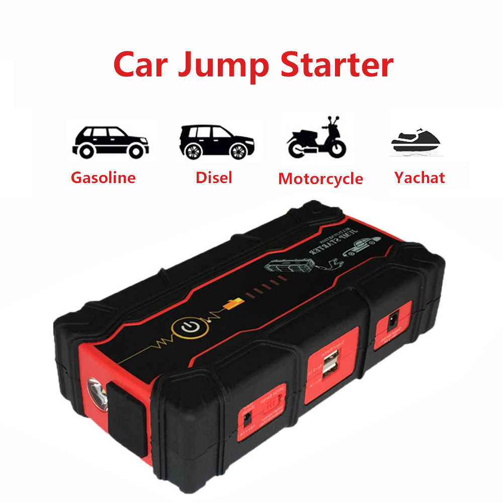 High Car Jump Starter 800a Peak Battery Booster Charger For Starting Device Portable