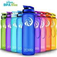 Botella de agua deportiva portátil de ZORRI BPA libre de plástico para transportar botellas de agua para estudiantes