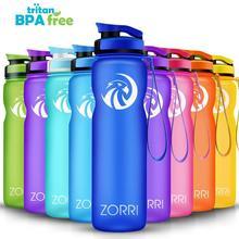ZORRI портативная Спортивная бутылка для воды BPA Бесплатная пластиковая переноска для путешествий на открытом воздухе бутылки для воды студенческие бутылки для воды