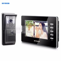 7 Wired Video Door Intercom Vandalproof Camera 700TVL Night View Unlocking