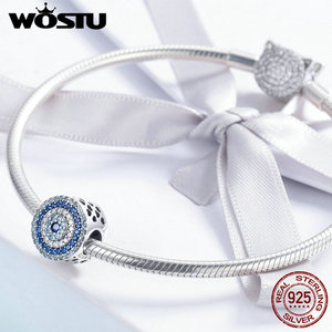 Image 3 - WOSTU 2019 Top Sale 925 Sterling Silver Samsara Eye Charms Bead fit Anniversary Brand DIY Bracelet Bangle Jewelry Gift FIC915