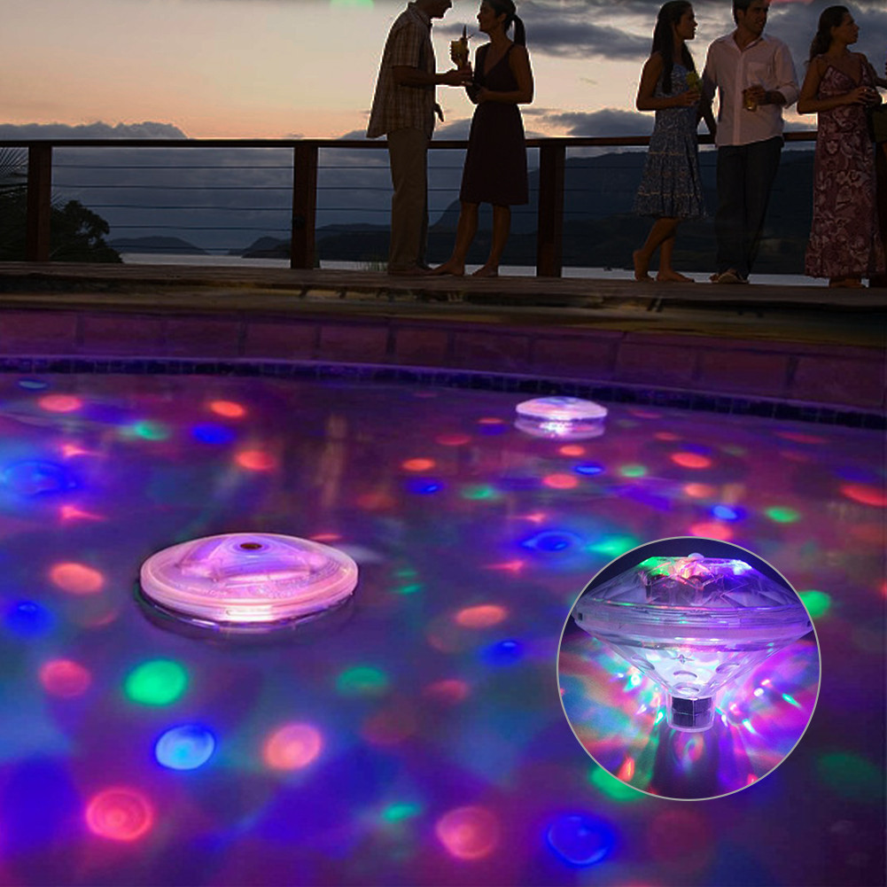 US $8.07 37% OFF|1 Pcs Floating Underwater Swimming Pool Water LED Light  Pond Lamp Waterproof Outdoor Party Light Swimming Pool Accessories-in Pool  & ...