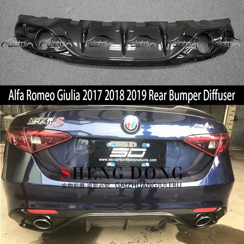 For Alfa Romeo Giulia 2017 2018 2019 Rear Bumper Diffuser