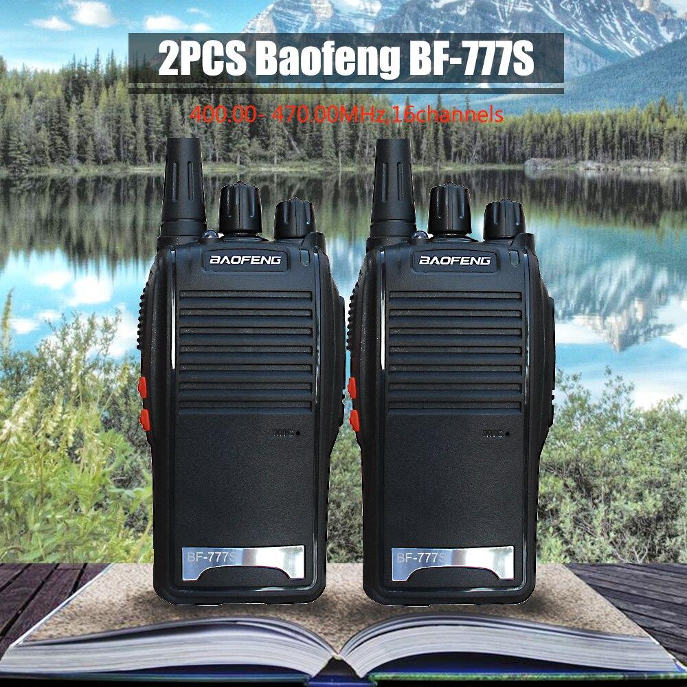 bilder für 2 STÜCKE Baofeng BF-777S Walkie Talkie Tragbare Funkgeräte Handheld UHF400.00-470,00 MHz Hohe Qualität Cb-funkgeräte